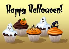 Halloween Cupcakes. Halloween  sweets Cupcakes  illustration Royalty Free Stock Photography