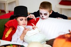 Halloween sweets Stock Photos
