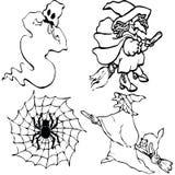 halloween symboler Vektor Illustrationer