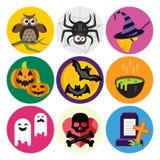 halloween symboler ställde in vektorn vektor illustrationer