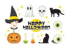 Halloween Symbols. Pack of Halloween Symbols with Stars stock illustration