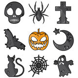Halloween symbols Royalty Free Stock Photo