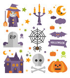 Halloween symbols collection vector illustration