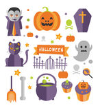 Halloween symbols collection royalty free illustration