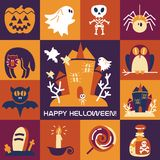 Halloween symbols collection Stock Photography