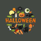 Halloween symbols collection Royalty Free Stock Images