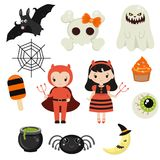 Halloween symbols collection Royalty Free Stock Image