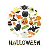 Halloween symbols collection Royalty Free Stock Photo