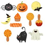 Halloween symbols collection Royalty Free Stock Photos