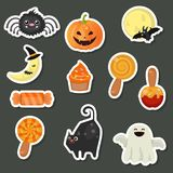 Halloween symbols collection Stock Images