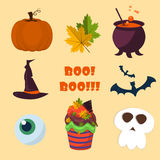 Halloween symbols collection. Royalty Free Stock Image