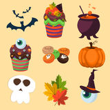Halloween symbols collection. Stock Image