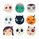 Halloween symbols collection. Royalty Free Stock Photo