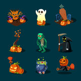Halloween symbols collection Stock Photos