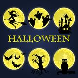 Halloween symbols collection. Stock Images