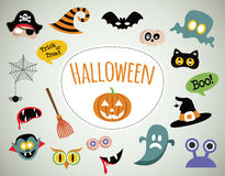 Halloween symbols and icons collection Stock Photo