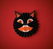 Halloween symbols origami on a red background Stock Image