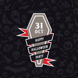 Halloween Symbols Seamless Pattern Contrast Royalty Free Stock Images