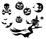 Halloween symbols set Royalty Free Stock Photos
