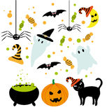 Halloween symbols set Stock Photo