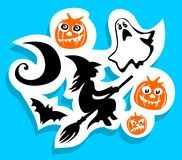 Halloween symbols set Stock Photography