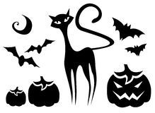 Halloween symbols set Stock Images