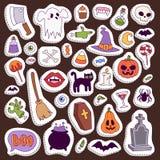 Halloween Night creepy symbols icons vector collection illustration Stock Photography