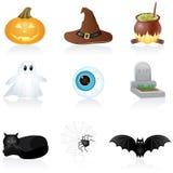 halloween symbolsset Arkivbild