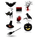 halloween symbolsset Royaltyfri Foto