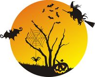 Halloween-Szene Lizenzfreie Stockfotografie
