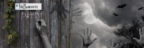 Halloween-Szenendesign Lizenzfreies Stockfoto