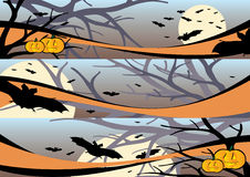 Halloween-Szenenfahnen Lizenzfreies Stockbild