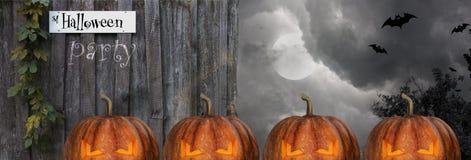 Halloween-Szenenillustrationshintergrund Stockbild