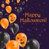Halloween szybko się zwiększać lewego kartka z pozdrowieniami Zdjęcie Stock