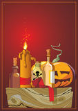 Halloween. Tête de potiron illustration stock