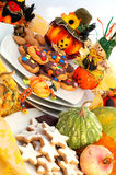 Halloween table setting Stock Photos