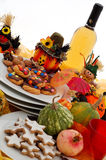 Halloween table setting Royalty Free Stock Photos