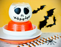 Halloween Table Setting, Kitchen Utensils Composition For Hallow Stock  Images Part 59
