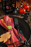 Halloween table setting Royalty Free Stock Images