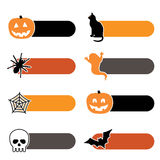 Halloween tabs Royalty Free Stock Photography