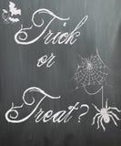 Halloween-Tafel - Süßes sonst gibt's Saures? lizenzfreie stockfotografie