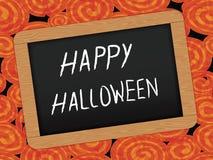 Halloween-Tageshintergrund mit Tafel lizenzfreie abbildung