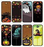 Halloween tags vector illustration