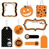Halloween tags stock illustration