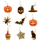 Halloween tags Royalty Free Stock Images
