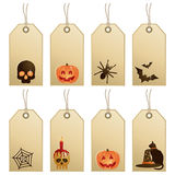 Halloween tags Royalty Free Stock Photography