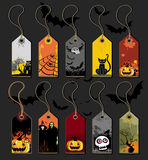 Halloween tags Stock Photography