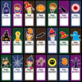 Halloween tags layout design Royalty Free Stock Image