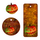 Halloween tags with pumpkin Royalty Free Stock Photography