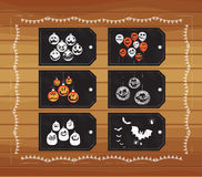 Halloween tags Royalty Free Stock Photos